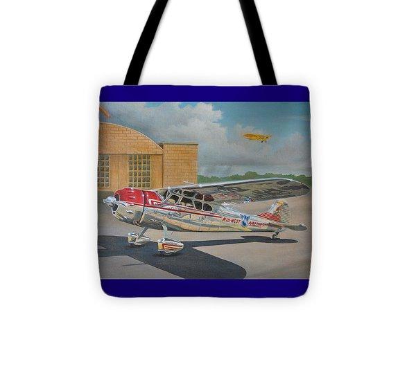 Cessna 195 Tote Bag by Stuart Swartz