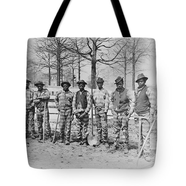 CHAIN GANG c. 1885 Tote Bag by Daniel Hagerman