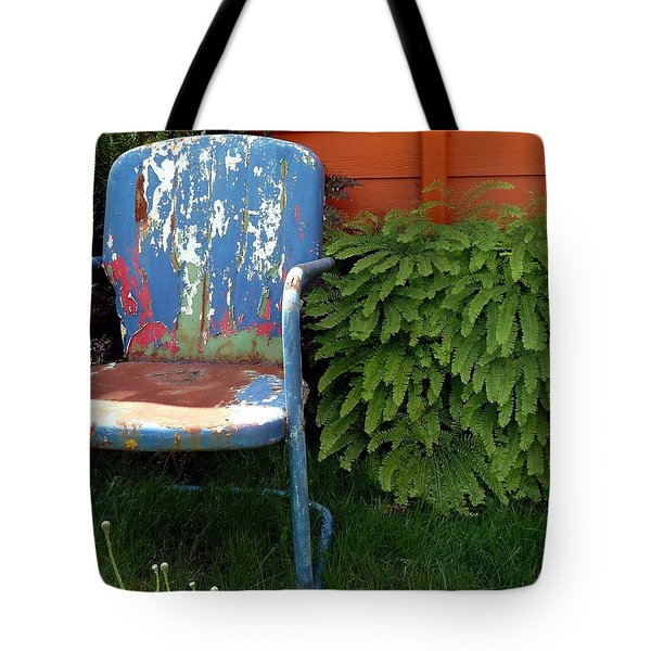 Chair Of Many Colors Tote Bag by Patricia Strand