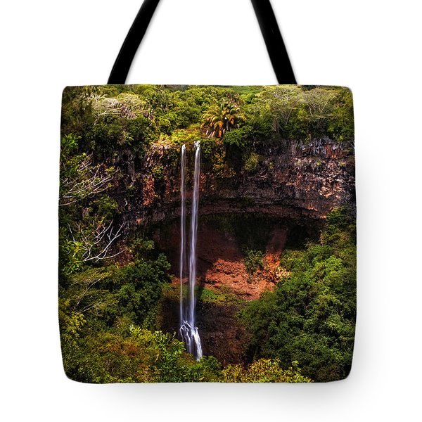 Chamarel Waterfall 1. Mauritius Tote Bag by Jenny Rainbow