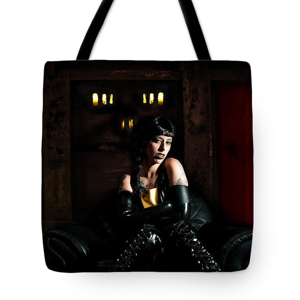 Chamber Of Horror Tote Bag by Nathan Wright