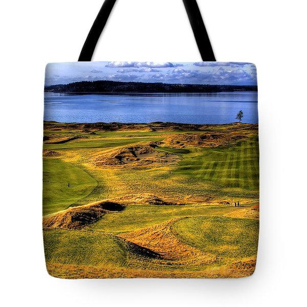 Chambers Bay Lone Tree Tote Bag by David Patterson