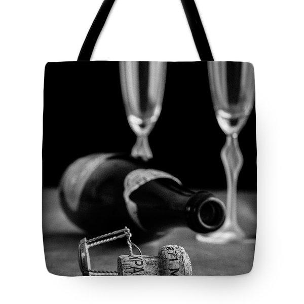 Champagne Bottle Still Life Tote Bag by Edward Fielding