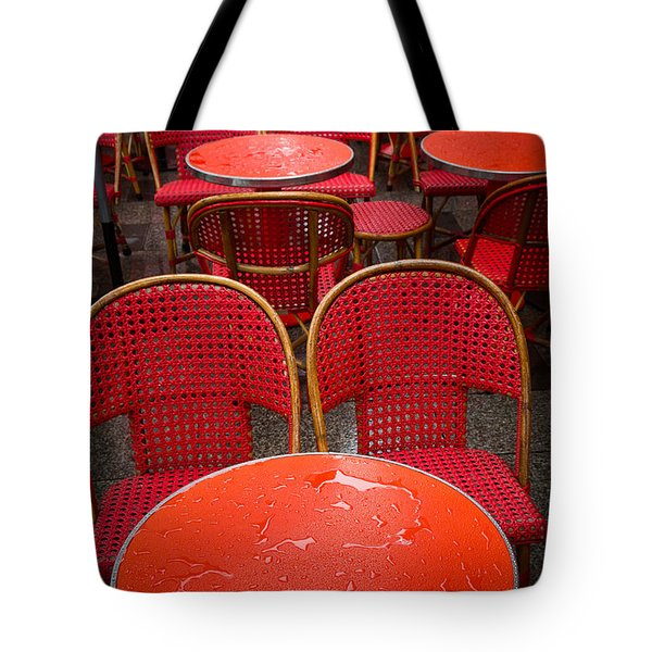 Champs Elysees Cafe Tote Bag by Inge Johnsson