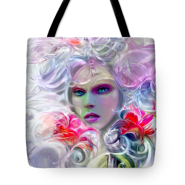 Surreal Fairy Tale Flora Tote Bag by Jaimy Mokos