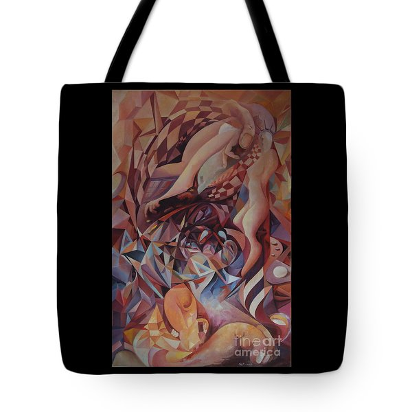 Chaos Management Or Adolf And Eva Tote Bag by Mikhail Savchenko