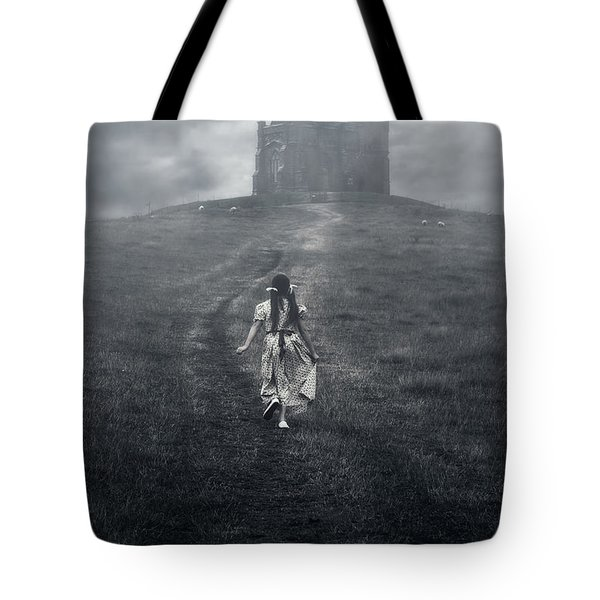 chapel in mist Tote Bag by Joana Kruse