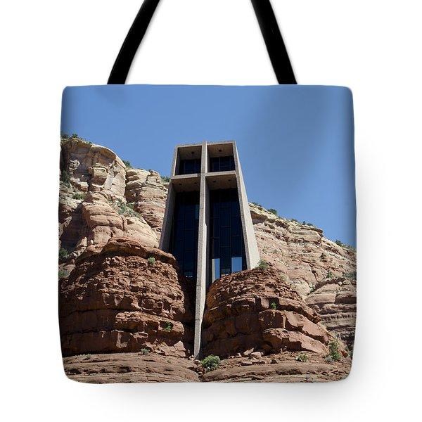 Chapel Of The Holy Cross Tote Bag by David Gordon