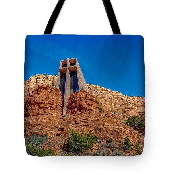 Chapel Of The Holy Cross Sedona Az Front Tote Bag by Scott Campbell