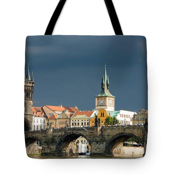 Charles Bridge Prague Tote Bag by Matthias Hauser