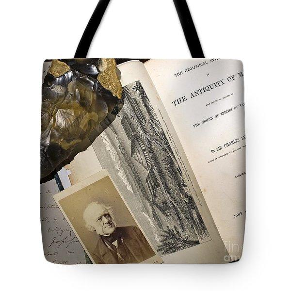 Charles Lyells Antiquity Of Man 1863 Tote Bag by Paul D Stewart