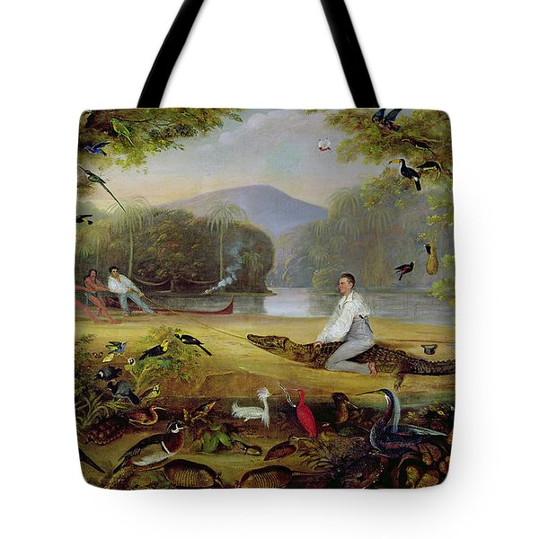 Charles Waterton Capturing A Cayman, 1825-26 Tote Bag by Captain Edward Jones
