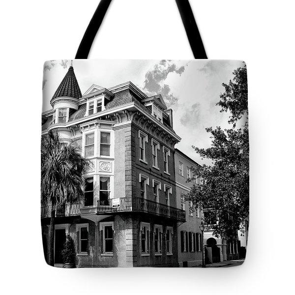 Charleston Corner Charleston Sc Tote Bag by William Dey