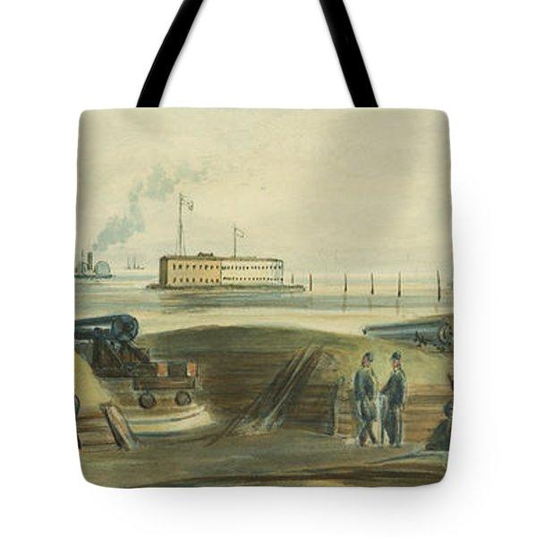 Charlestons Defense Circa 1863 Tote Bag by Aged Pixel