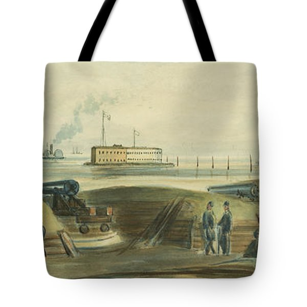 Charlestons Defense circa 1863 Tote Bag by Aged Pixel