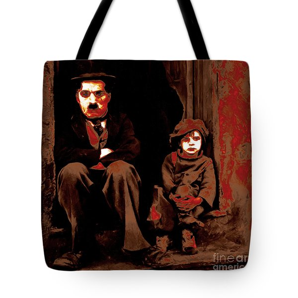 Charlie Chaplin 20130212-2-square Tote Bag by Wingsdomain Art and Photography