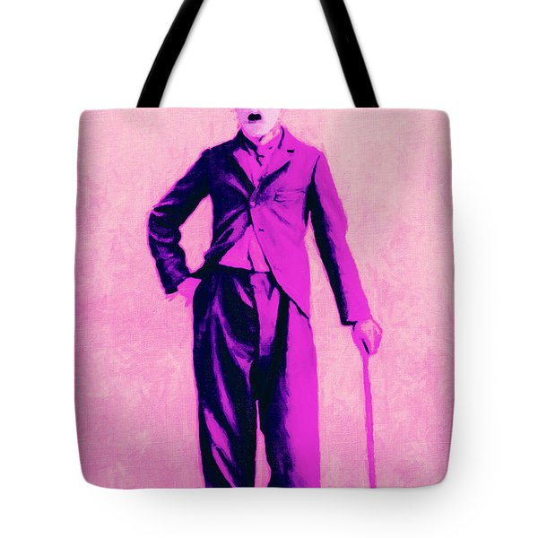 Charlie Chaplin The Tramp 20130216 Tote Bag by Wingsdomain Art and Photography