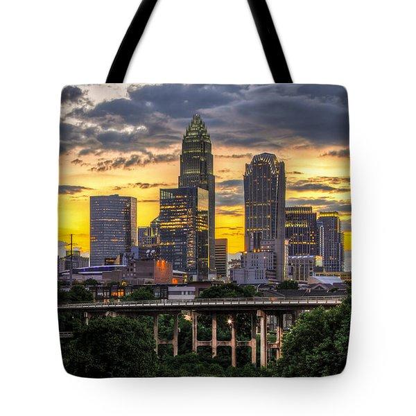 Charlotte Dusk Tote Bag by Chris Austin