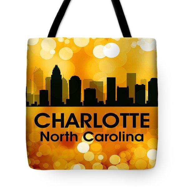 Charlotte NC 3 Tote Bag by Angelina Vick
