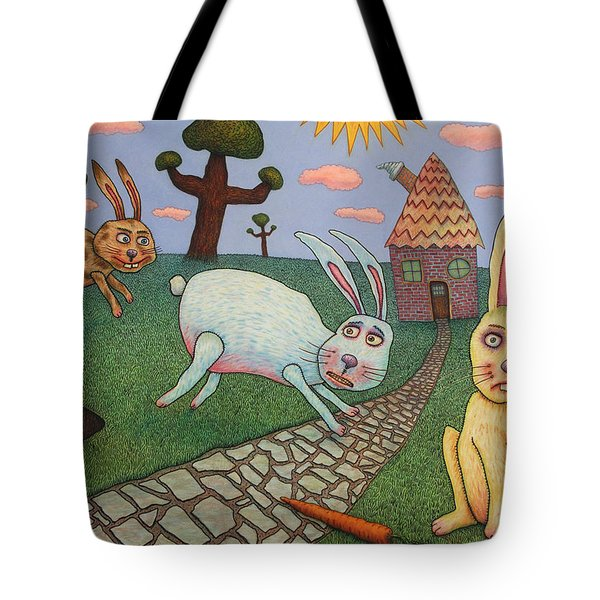 Chasing Tail Tote Bag by James W Johnson