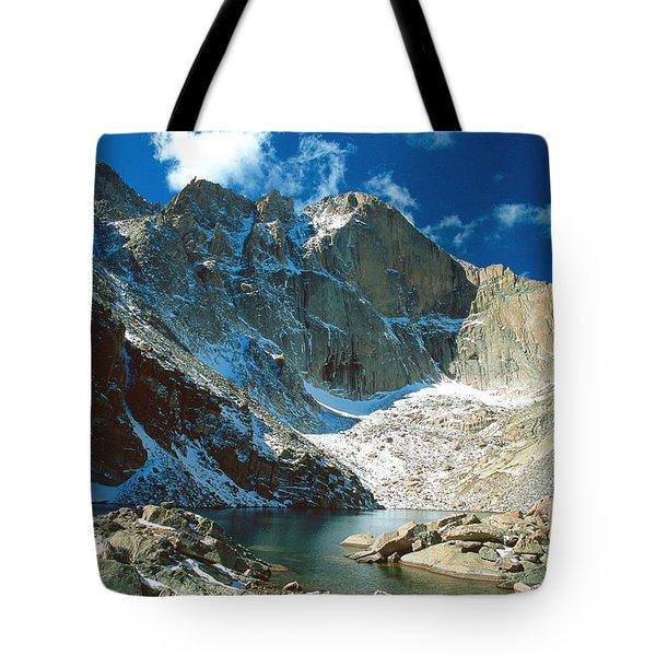 Chasm Lake Tote Bag by Eric Glaser