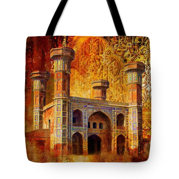 Chauburji Gate Tote Bag by Catf