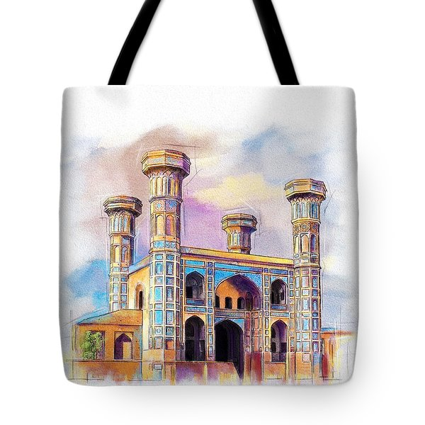 Chauburji Lahore Tote Bag by Catf