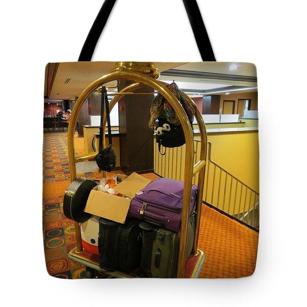 Check Out Time Tote Bag by Ausra Paulauskaite