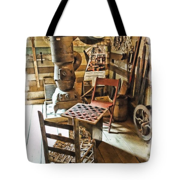 Checkers At The General Store Tote Bag by Kenny Francis