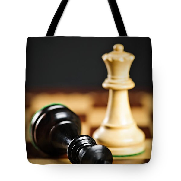 Checkmate In Chess Tote Bag by Elena Elisseeva