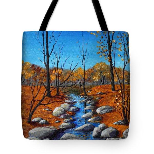 Cheerful Fall Tote Bag by Anastasiya Malakhova