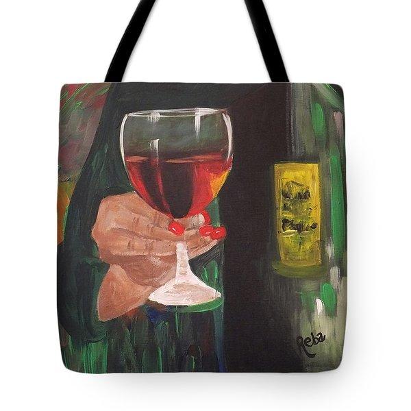 Cheers Tote Bag by Reba Baptist