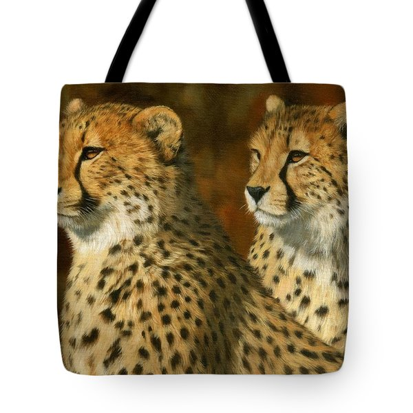 Cheetah Brothers Tote Bag by David Stribbling