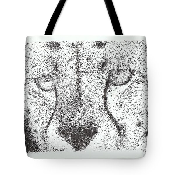 Cheetah Face Tote Bag by Todd Hodgins