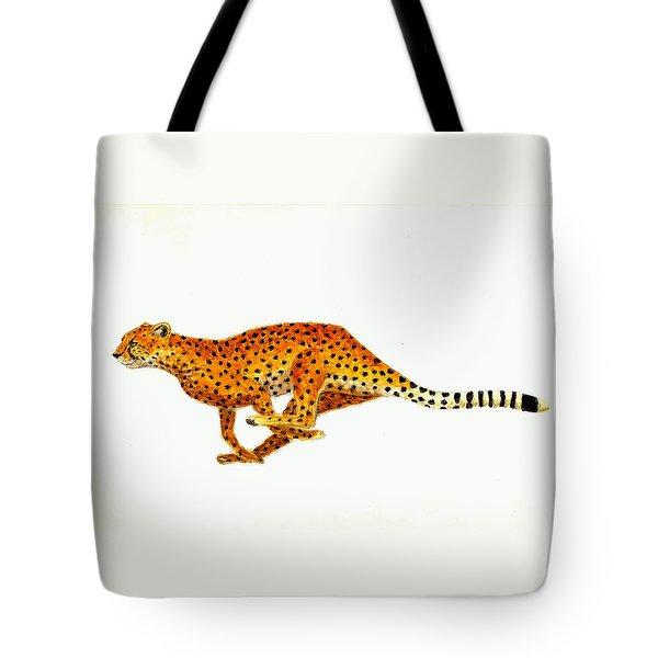 Cheetah Tote Bag by Michael Vigliotti