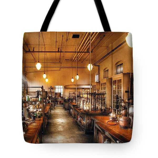 Chemist - The Chem Lab Tote Bag by Mike Savad