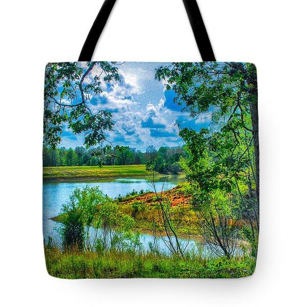 Cherokee Lake Tennessee  Tote Bag by Bob and Nadine Johnston