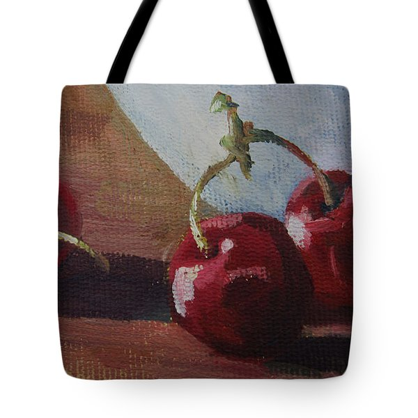 Cherries 2 Tote Bag by John Clark
