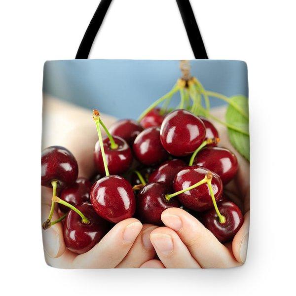 Cherries Tote Bag by Elena Elisseeva