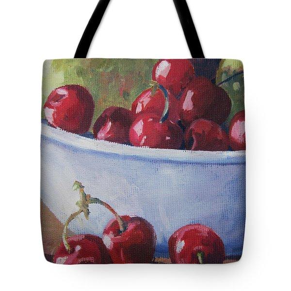 Cherries Tote Bag by John Clark