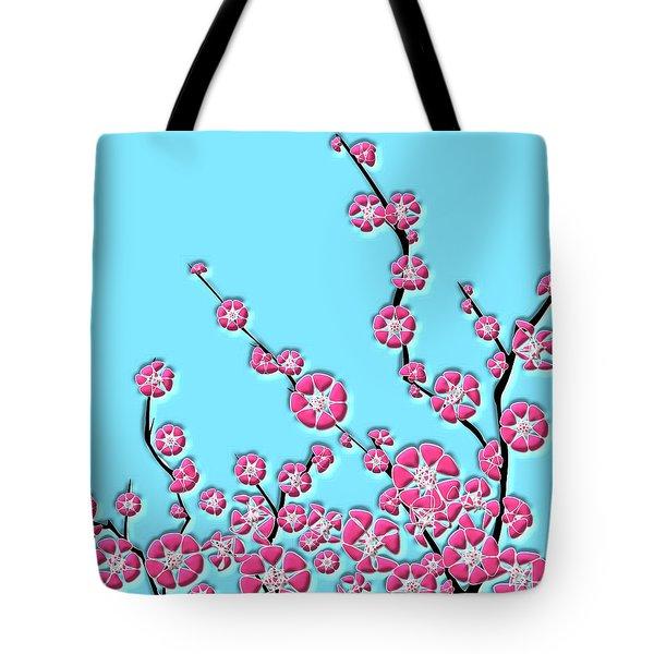 Cherry Blossom Tote Bag by Anastasiya Malakhova