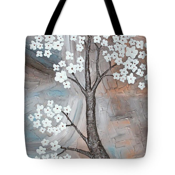 Cherry Blossom Tote Bag by Home Art