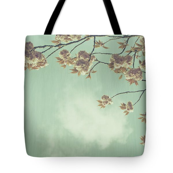 Cherry Blossom in Fulwood Park Tote Bag by Nomad Art And  Design
