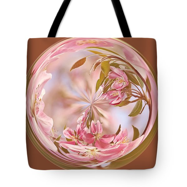 Cherry Blossom Orb Tote Bag by Kim Hojnacki