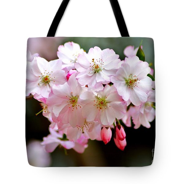 Cherry Blossoms And A Bee Tote Bag by Patti Whitten