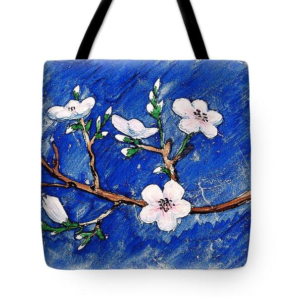 Cherry Blossoms Tote Bag by Irina Sztukowski