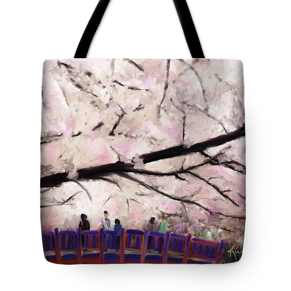 Cherry Blossoms Tote Bag by Kume Bryant