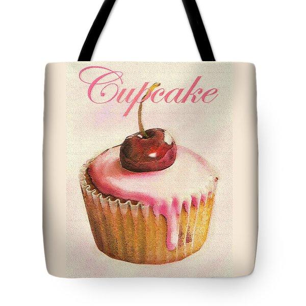 Cherry Cupcake Tote Bag by Jane Schnetlage