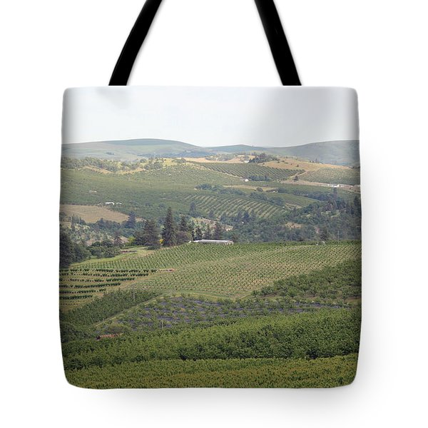 Cherry Orchards Tote Bag by E Faithe Lester