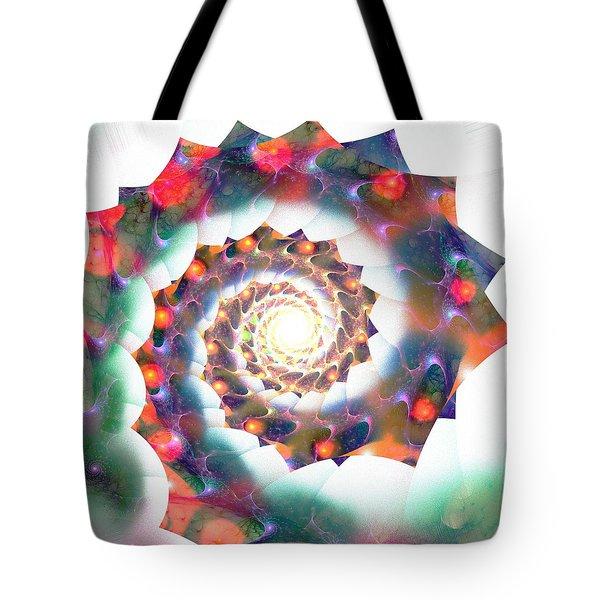 Cherry Swirl Tote Bag by Anastasiya Malakhova
